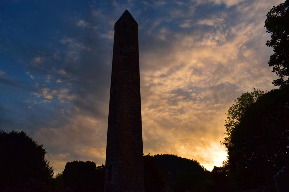 Round Tower at sunset