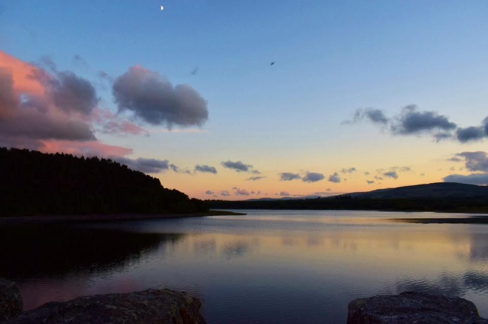 Vartry Reservoir at sunset